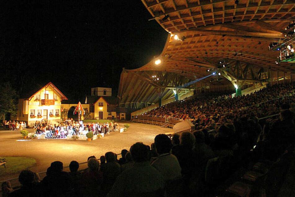 Zuschauer einer Aufführung der Freilichtspiele Altusried im Allgäu.