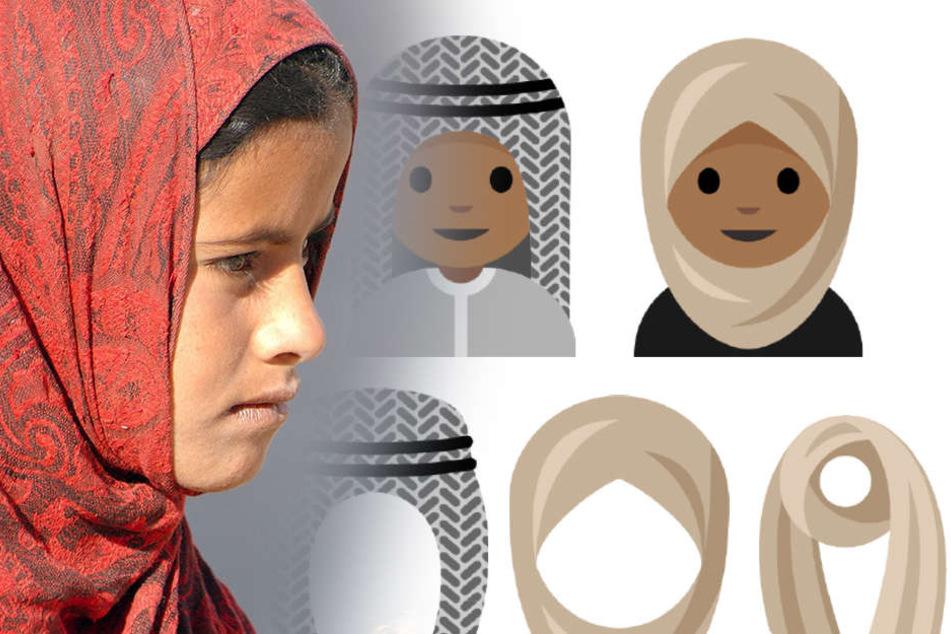 Ein Mädchen aus Berlin stellte einen Antrag für Kopftuch-Emojis (Symbolbild) beim Unicode Consortium.