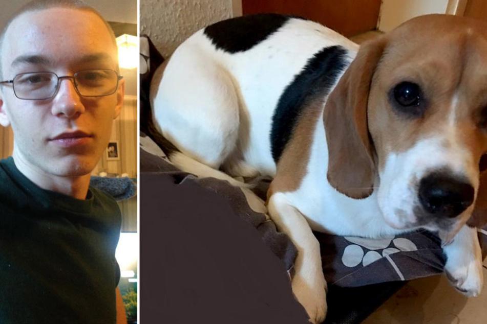 Wie der Hund (r.) mit Tat von Marcel Heße oder mutmaßlichem Täter in Verbindung steht, wollte die Polizei aus ermittlungstaktischen Gründen nicht sagen.