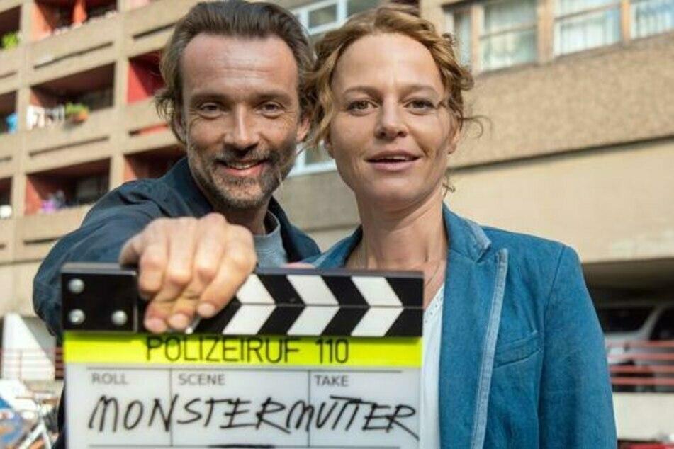 Der letzte Fall von Olga Lenski (Maria Simon, 44) wurde im September 2020 gedreht - hier mit Partner Lucas Gregorowicz (44).