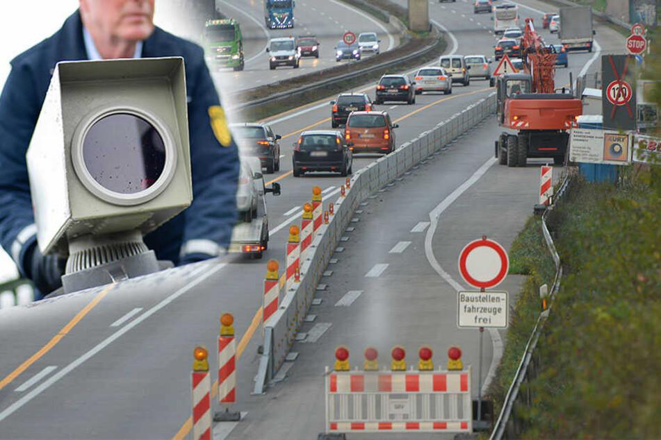 Vorsicht! An dieser A4-Baustelle geht die Polizei auf ganz gemeine Raserjagd