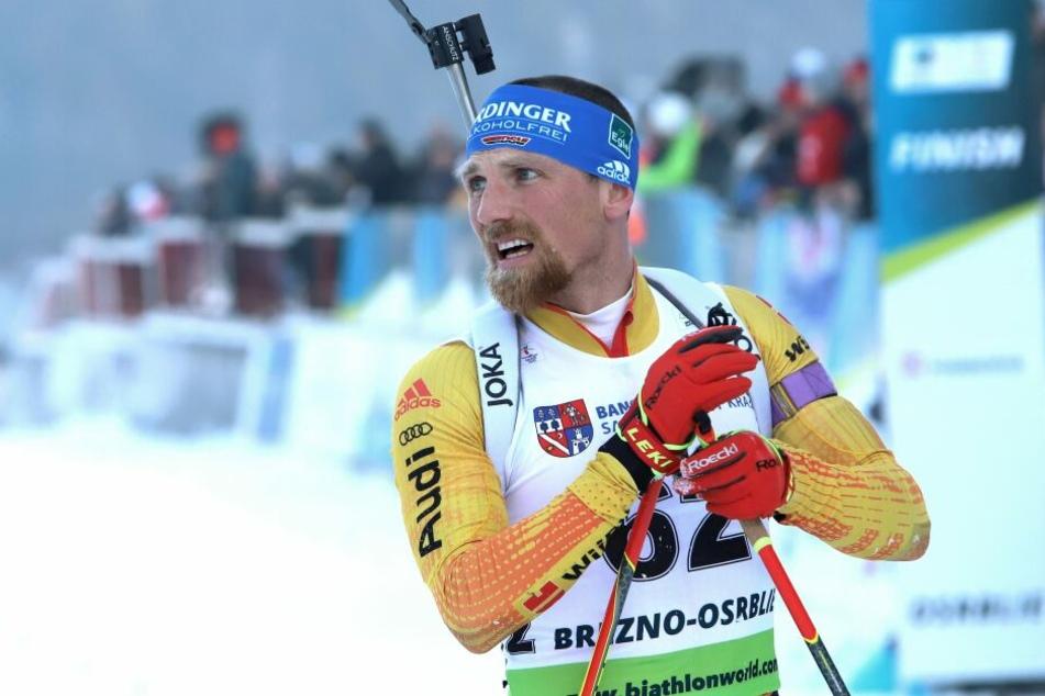 Erik Lesser beim IBU-Cup-Rennen in Osrblie.