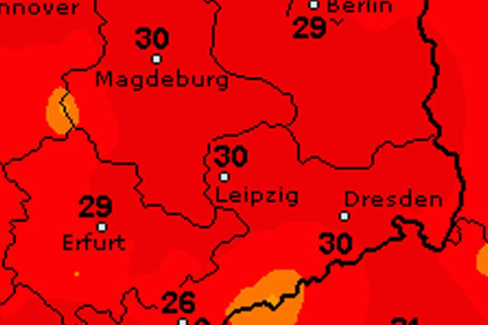 Am Sonntag soll es mit bis zu 30 Grad richtig heiß werden.