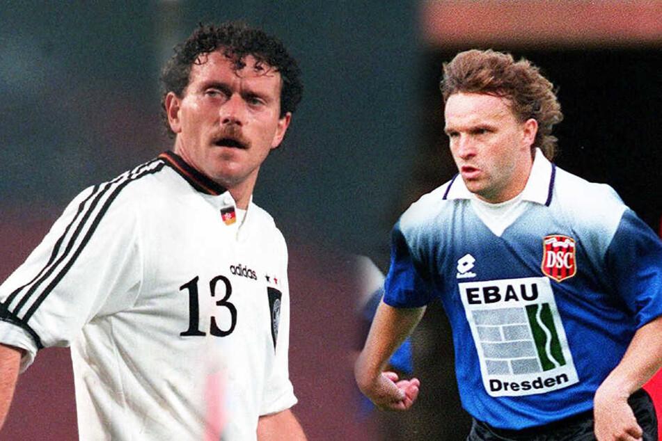 Marschall schaffte es in die Nationalelf (li.), Scholz lief neben Dynamo auch für den Dresdner SC auf.