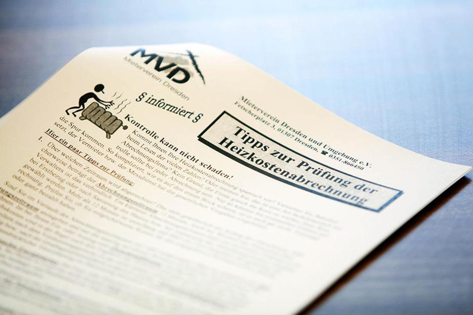 Der Mieterverein rät zur Prüfung der Nebenkostenabrechnung und zur Einsicht der Belege.