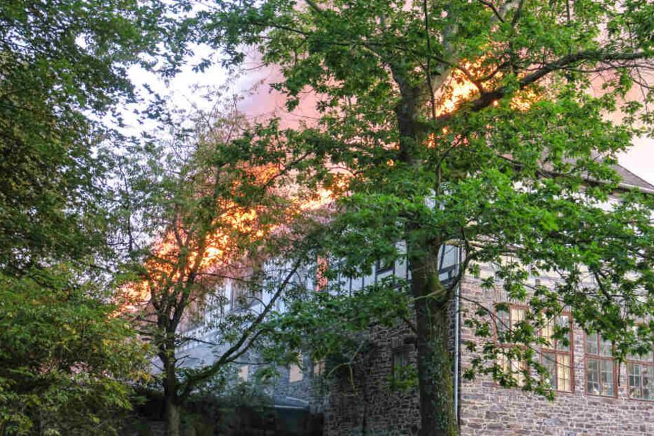 In Aue brannte eine ehemalige Schule.