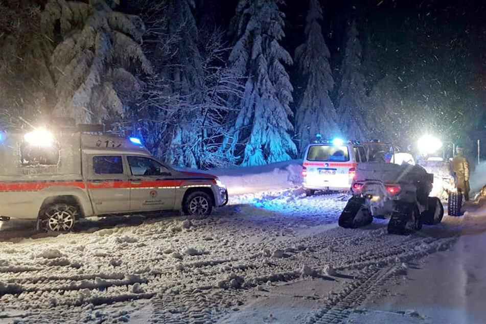Dramatische Rettung in Sachsen: Bergwacht rettet Wandergruppe aus Tiefschnee
