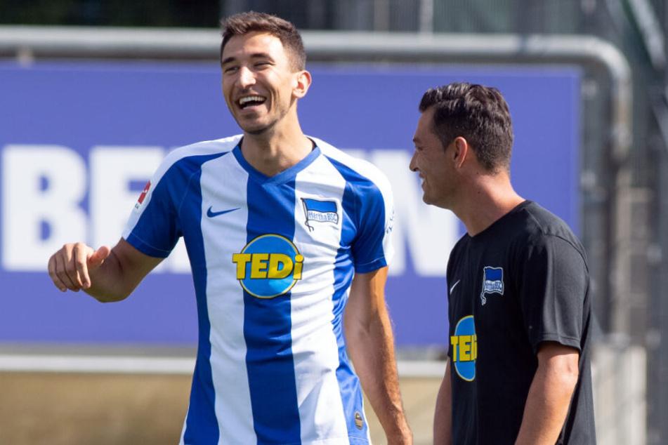 Haben ein gutes Verhältnis: Marko Grujic (l.) und Ante Covic (r.).