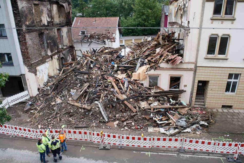 Das Haus in Wuppertal wurde zerstört.
