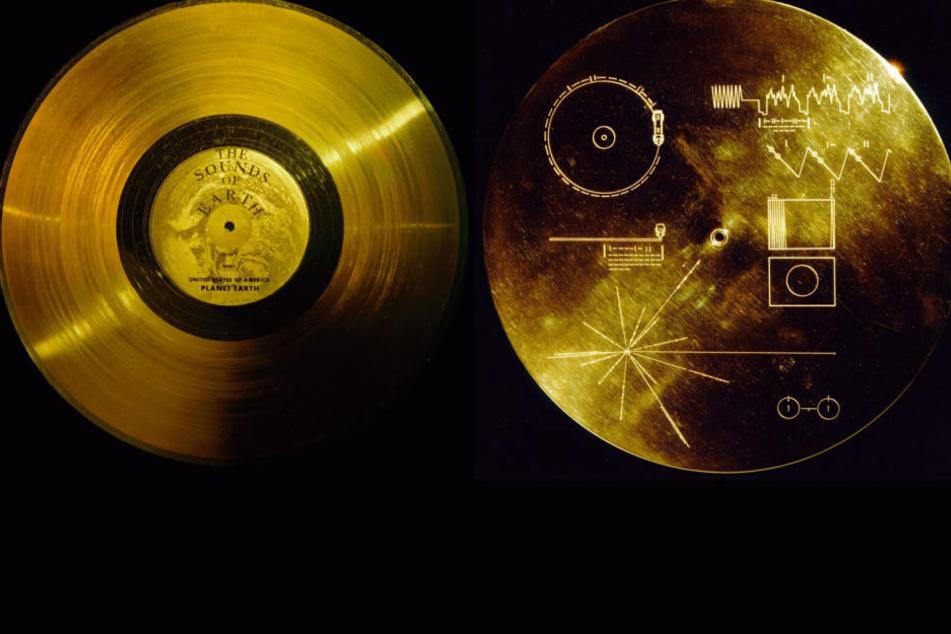 """Die """"Golden Records"""" wurden in der Voyager 1 und 2 platziert, um Aliens eine Botschaft zu überbringen."""