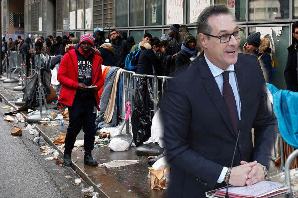 Österreichs Vizekanzler Heinz-Christian Strache denkt über eine Aussgangssperre für Flüchtlinge nach.