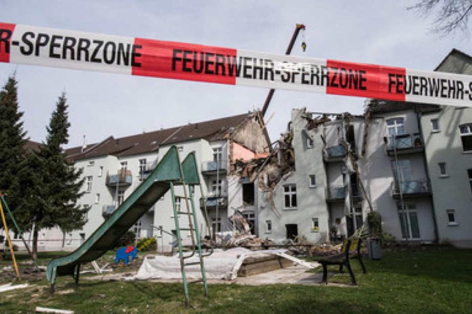 Das Mehrfamilienhaus in Dortmund wurde durch die Explosion komplett zerstört.
