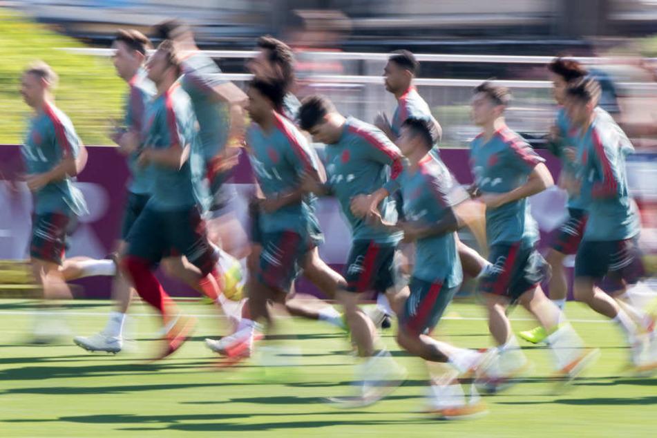 Der FC Bayern München bereitet sich in Doha (Katar) auf die Rückrunde vor.