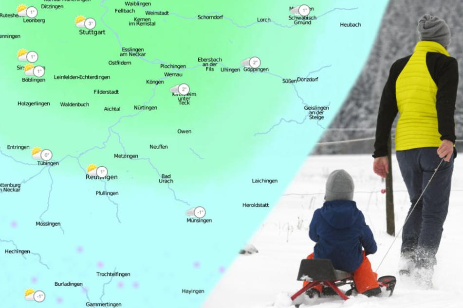 In der Nacht zum Sonntag rechnen Experten mit mehreren Zentimetern Schnee.