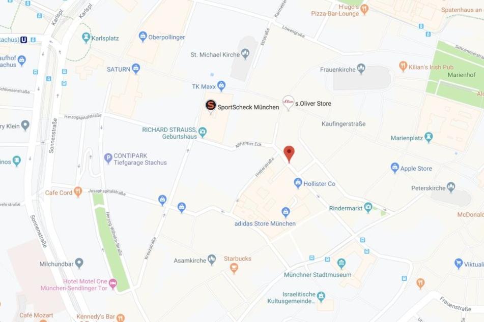 Im Bereich Färbergraben in der Münchner Innenstadt sorgt eine defekte Gasleitung für Unruhe.