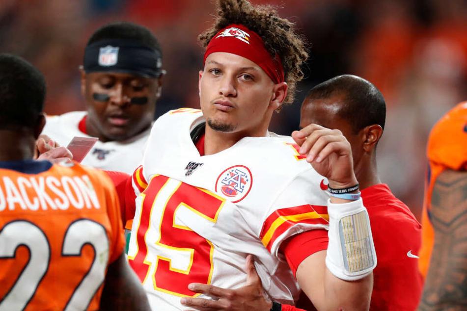 """Blick nach Deutschland? """"Madden NFL 20""""-Titelheld Patrick Mahomes (Kansas City Chiefs) könnte bald in Deutschland Pässe werfen. (Archiv)"""