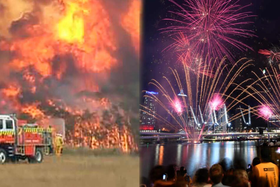 Australien feiert ausgelassen Silvester, während es lichterloh brennt