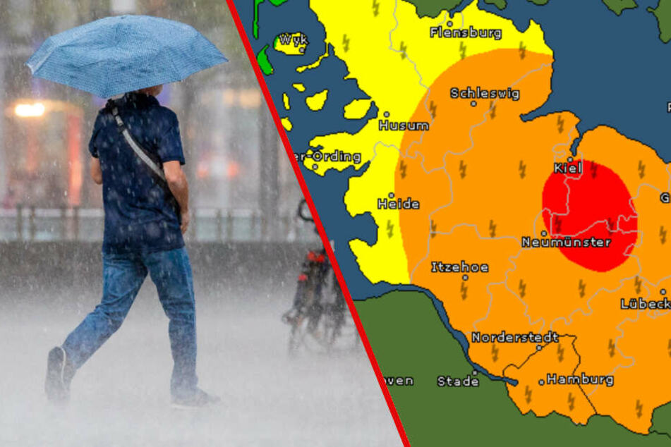 Warnung vor schweren Gewittern und Starkregen im Norden!