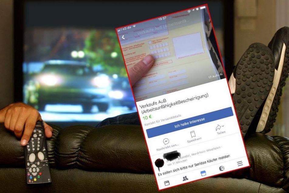 Für 10 Euro! Mann verkauft Krankschreibungen auf Facebook