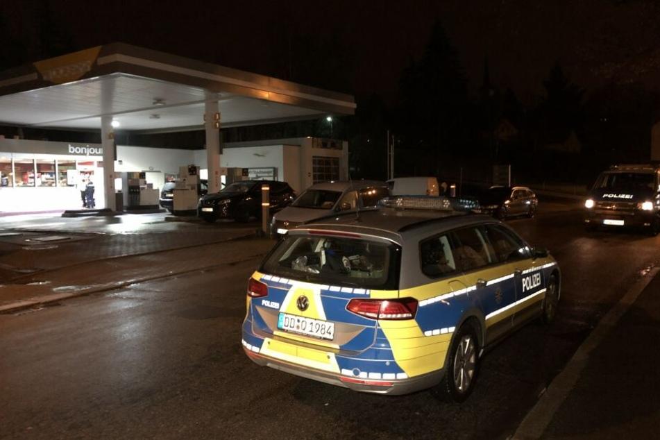 Bewaffneter Überfall auf Tankstelle in Zwickau: Täter auf der Flucht
