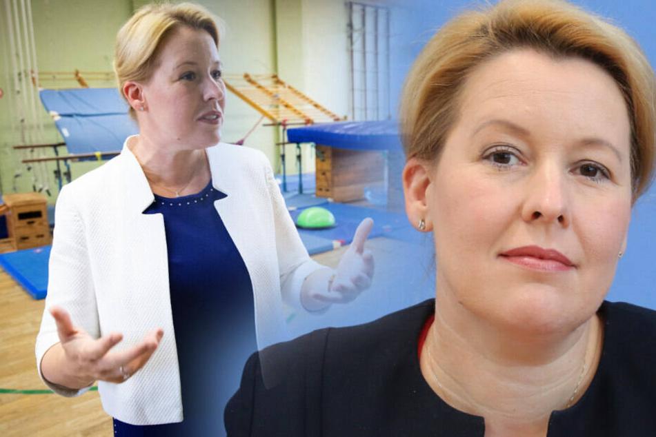 Franziska Giffey will bei Aberkennung des Doktortitels zurücktreten. (Bildmontage)