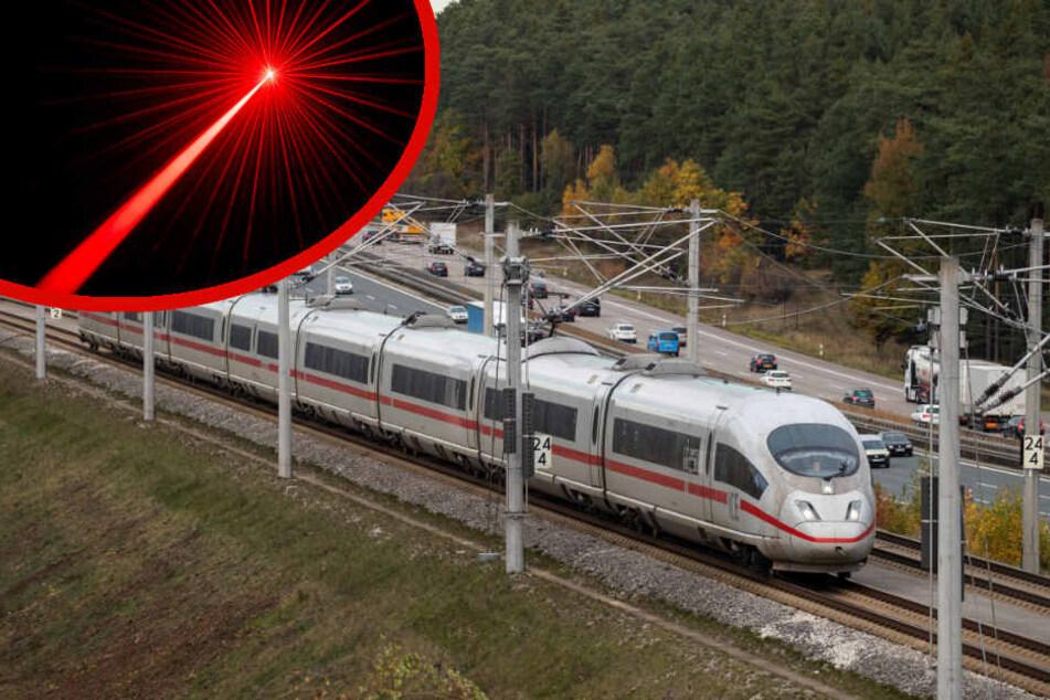 Bei Tempo 100 bemerkte der Lokführer den Laserstrahl. (Symbolbild)