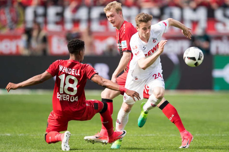 Lukas Klünter (21) erzielte am 13.05.2017 im Spiel bei Bayer Leverkusen (2:2) sein erstes Bundesligator.