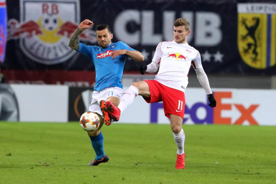Stürmer Timo Werner fand am Donnerstag nicht ins Spiel, verbuchte nur einen Torschuss und musste selbst viele Zweikämpfe führen.