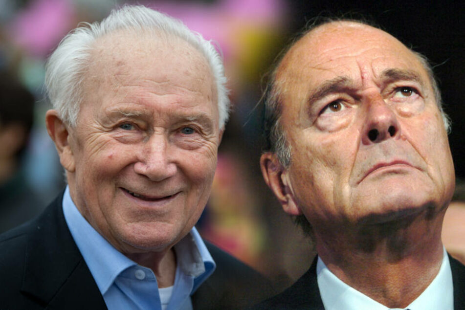 Sigmund Jähn (l) und Jacques Chirac.
