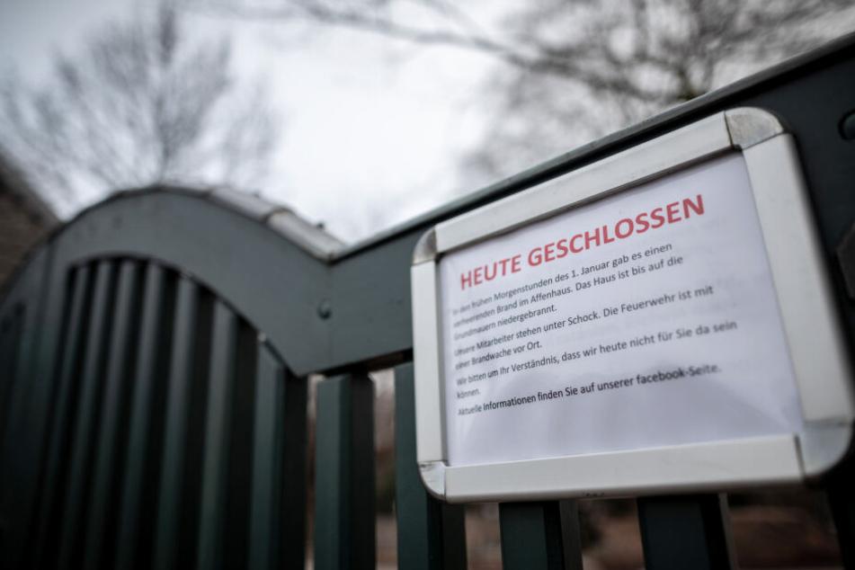 Der Zoo war nach der Brandkatastrophe für zwei Tage geschlossen worden.