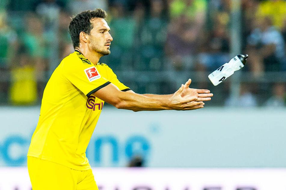 Mats Hummels im Testspiel gegen den FC St. Gallen. Der Ex-Münchner hat die komplette Vorbereitung der Schwarz-Gelben absolviert.