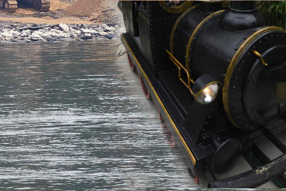 Versunkene Lok Im Rhein