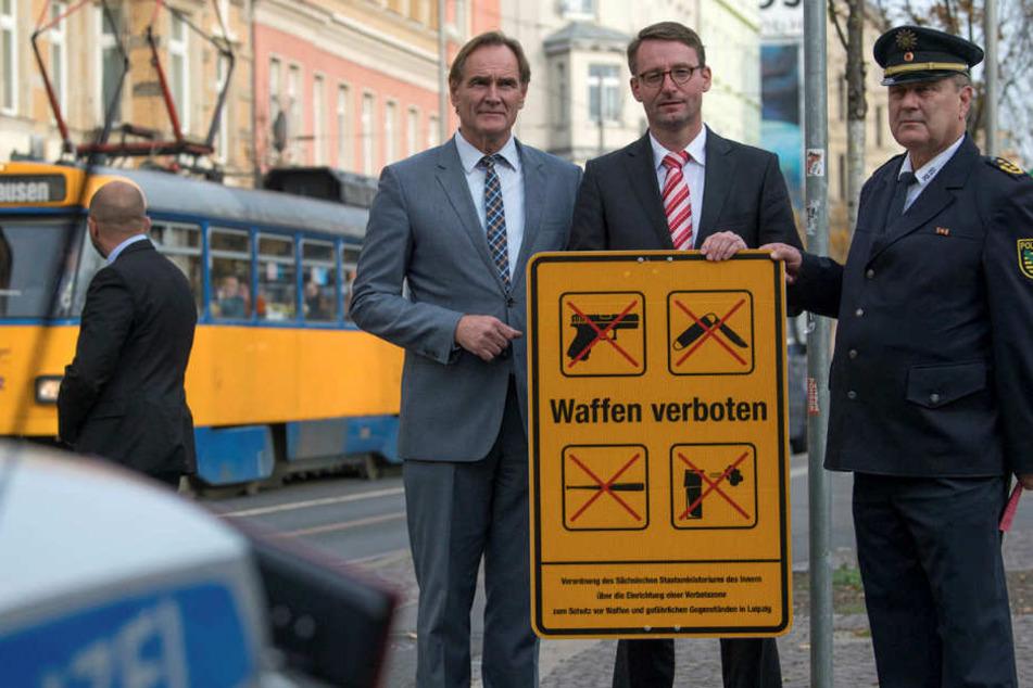 Leipziger Waffenverbotszone: Schon 20 Messer eingezogen