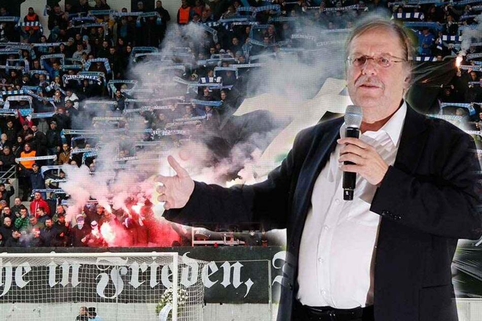 Nach dem Nazi-Skandal beim CFC fordert DFB-Vizepräsident Rainer Koch eine eindeutige Positionierung der Himmelblauen.