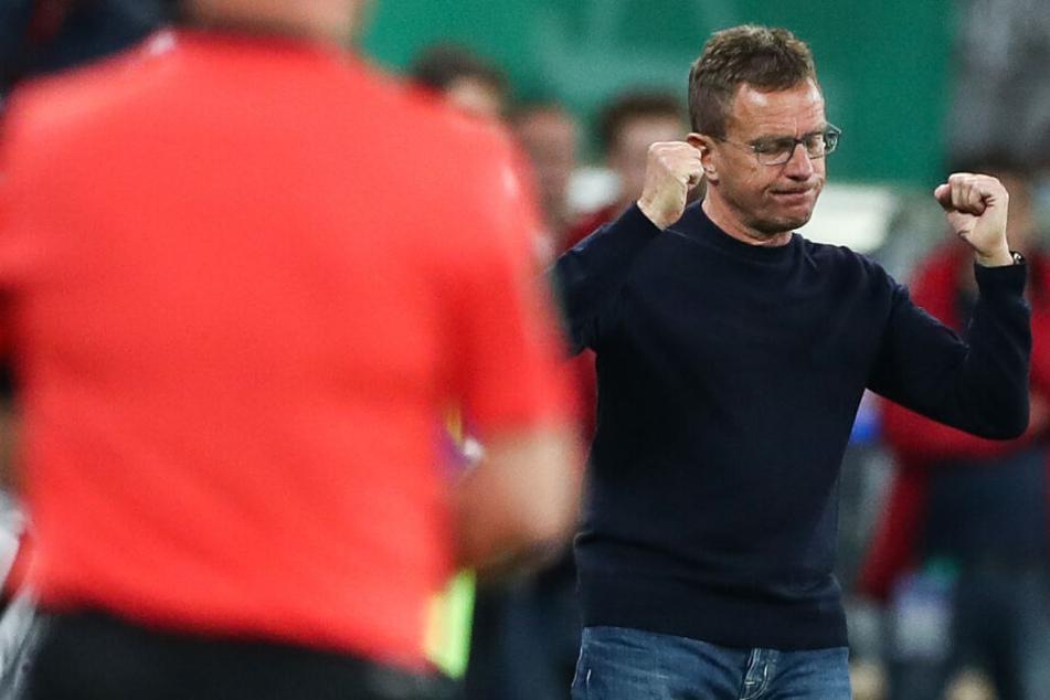 Nicht nur die Bremer, auch Leipzigs Trainer Ralf Rangnick will in seinem letzten Spiel einen Sieg erzielen.