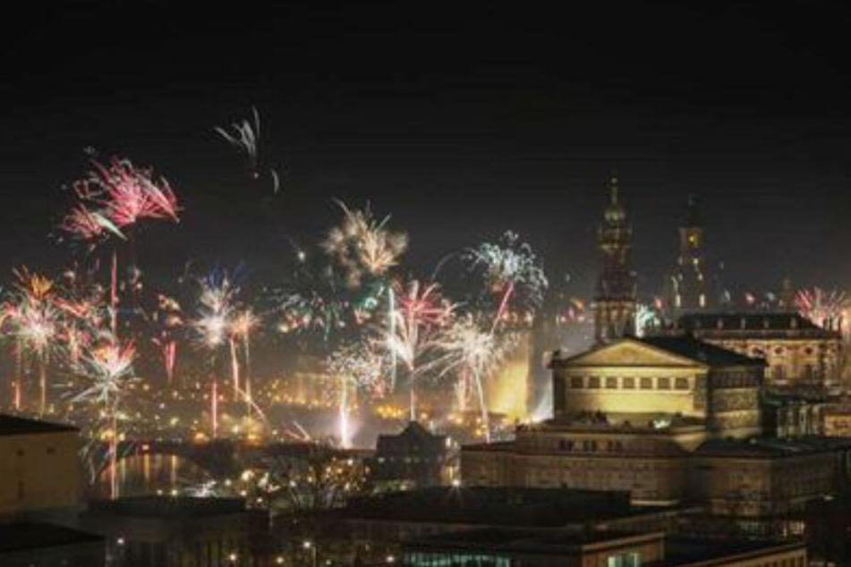 So sah das imposante Feuerwerk im Vorjahr aus.