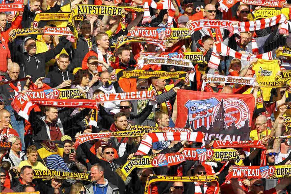 Den FSV Zwickau und Dynamo Dresden verbindet eine enge Fan-Freundschaft.