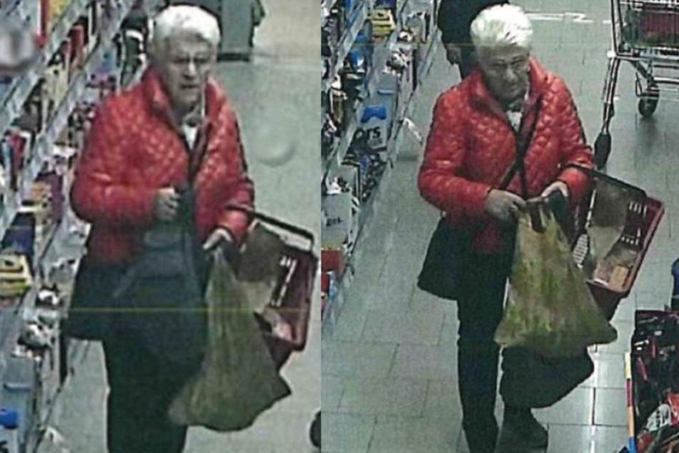 Mit diesen Bildern sucht die Landespolizeiinspektion nach der kleinkriminellen Oma.