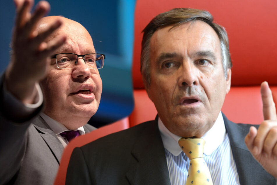 Wirtschaftsminister Peter Altmaier (60, CDU) sieht sich der Kritik von BVMV-Präsident Mario Ohovem (72) ausgesetzt. (Bildmontage)