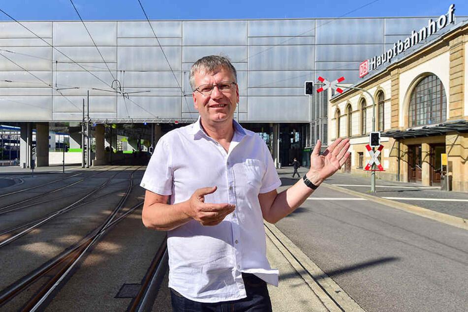 CDU-Stadtrat Falk Ulbrich (49) führt Gespräche mit dem VMS, die Nahverkehrsanbindung nach Leipzig stärker zu frequentieren.