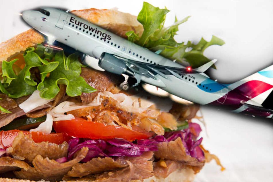 Eurowings: Wie das duftet: Eurowings bietet Döner im Flieger an!