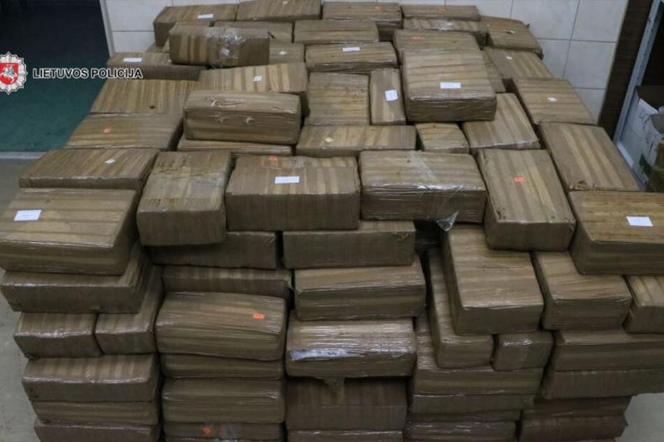 Eineinhalb Tonnen Haschisch hat die litauische Polizei an der Grenze zu Lettland versteckt in einem Lastwagen entdeckt.