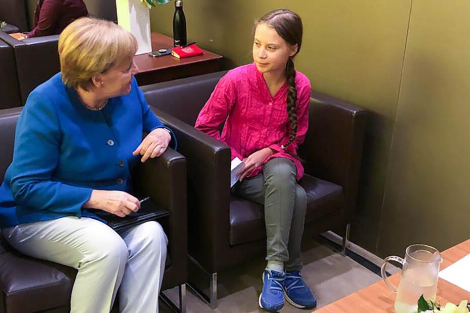 """Angela Merkel trifft Greta Thunberg und warnt: """"Haben Weckruf gehört"""""""