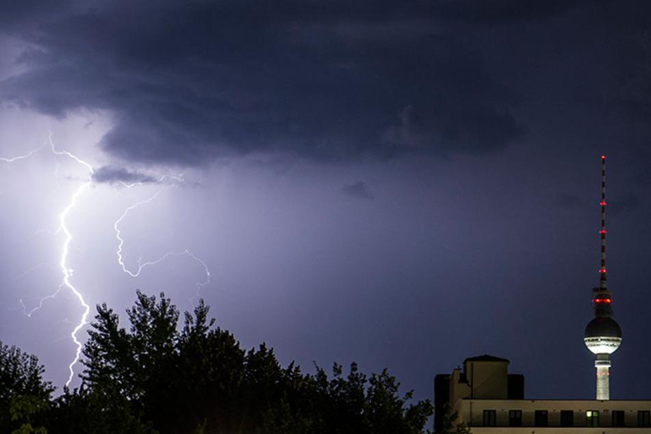 Immerhin wurde keiner vom Blitz getroffen.