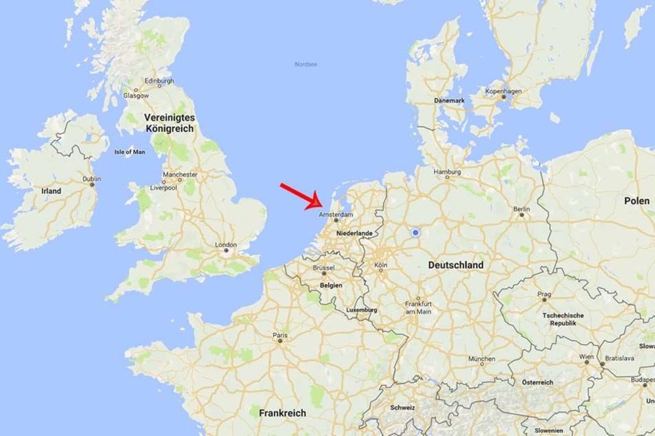 In etwa an dieser Stelle stürzte Schäfer in die Nordsee. Sein Flugziel was Osnabrück.