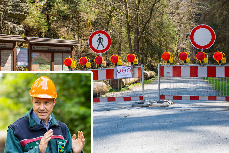 """Umweltminister Wolfram Günther (48, Grüne) begleitete die """"Task Force""""-Gründung aktiv. Viele Wege und Zufahrten sind gegenwärtig im Nationalpark gesperrt."""