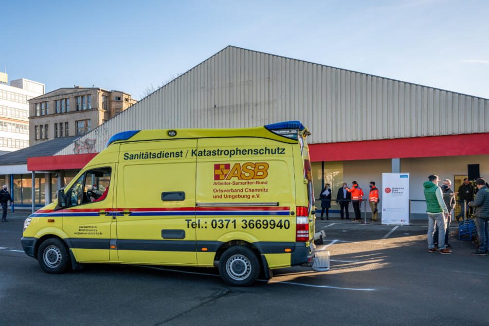 Ab Montag offen: Das Impfzentrum in Chemnitz. Termine gibt's ebenfalls erst ab Montag.