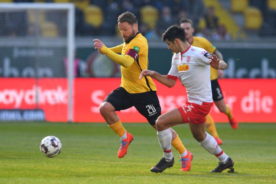 Patrick Ebert geht immer mit vollem Einsatz voran und ist daher wichtig für Dynamos Mannschaftsgefüge.