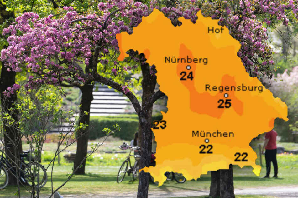 Sonne satt und bis zu 25 Grad! So wird das Wetter in Bayern