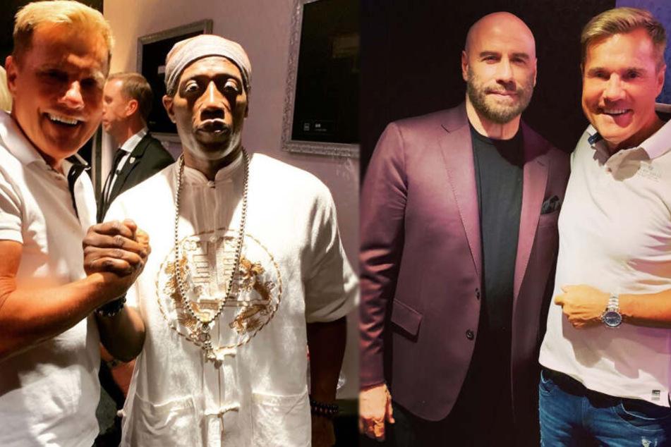 Dieter Bohlen posierte mit Wesley Snipes (links) und John Travolta.